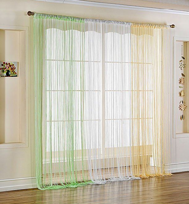 Flecos ácidos #Decorar con flecos #Fringe string curtains Ideas para #decorar con flecos #Fringe #string #curtains #design