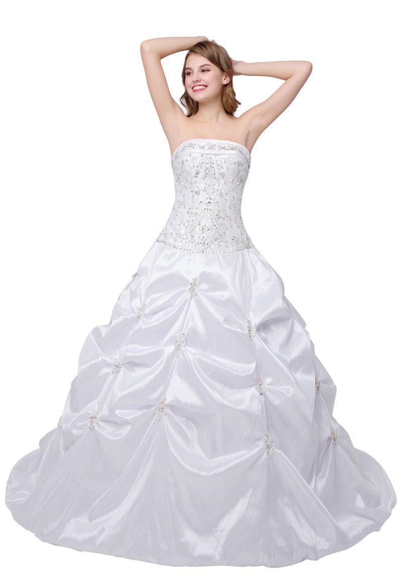 Click to buy ucuc vestido de noiva com manga curta bridal gowns ball