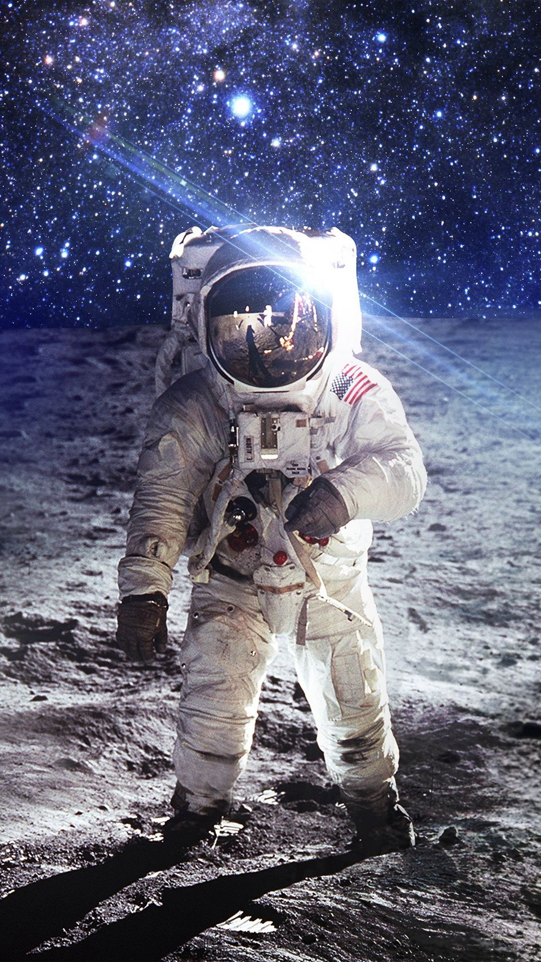 Astronaut Space Art Moon Dark #iPhone #7 #wallpaper ...