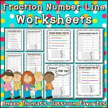 Fraction Number Line Worksheets | Worksheets, Number and Students