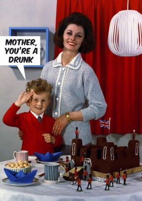Funny Mother's Birthday Mothering Drunk family Mothers Day Cards You're mother's Mother mother'sday drunk Cards Sunday mum