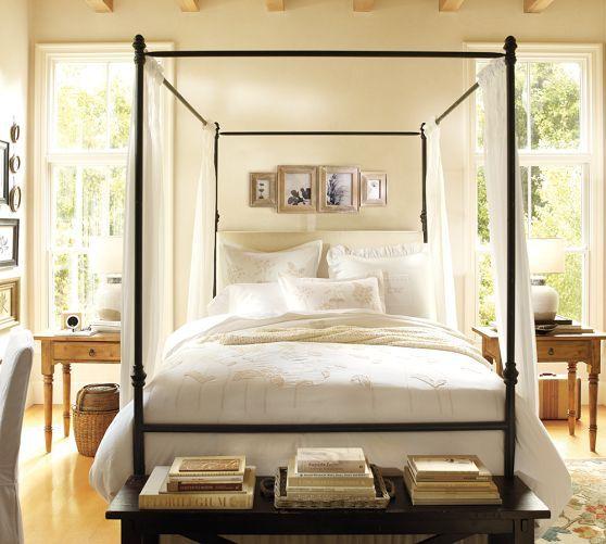 Antonia Canopy Bed Iron Canopy Bed Canopy Bed Pottery Barn