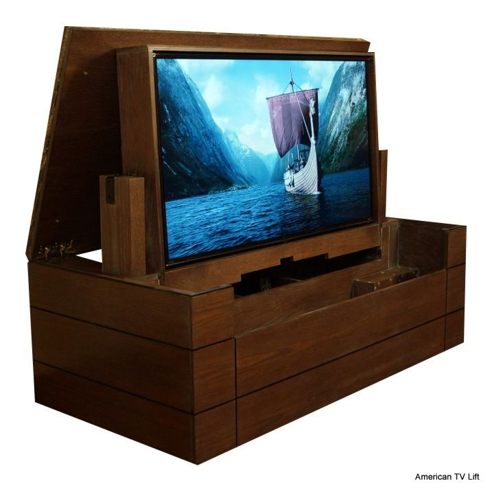 Low Profile Tv Lift Cabinet Folds Instead Of Lifts