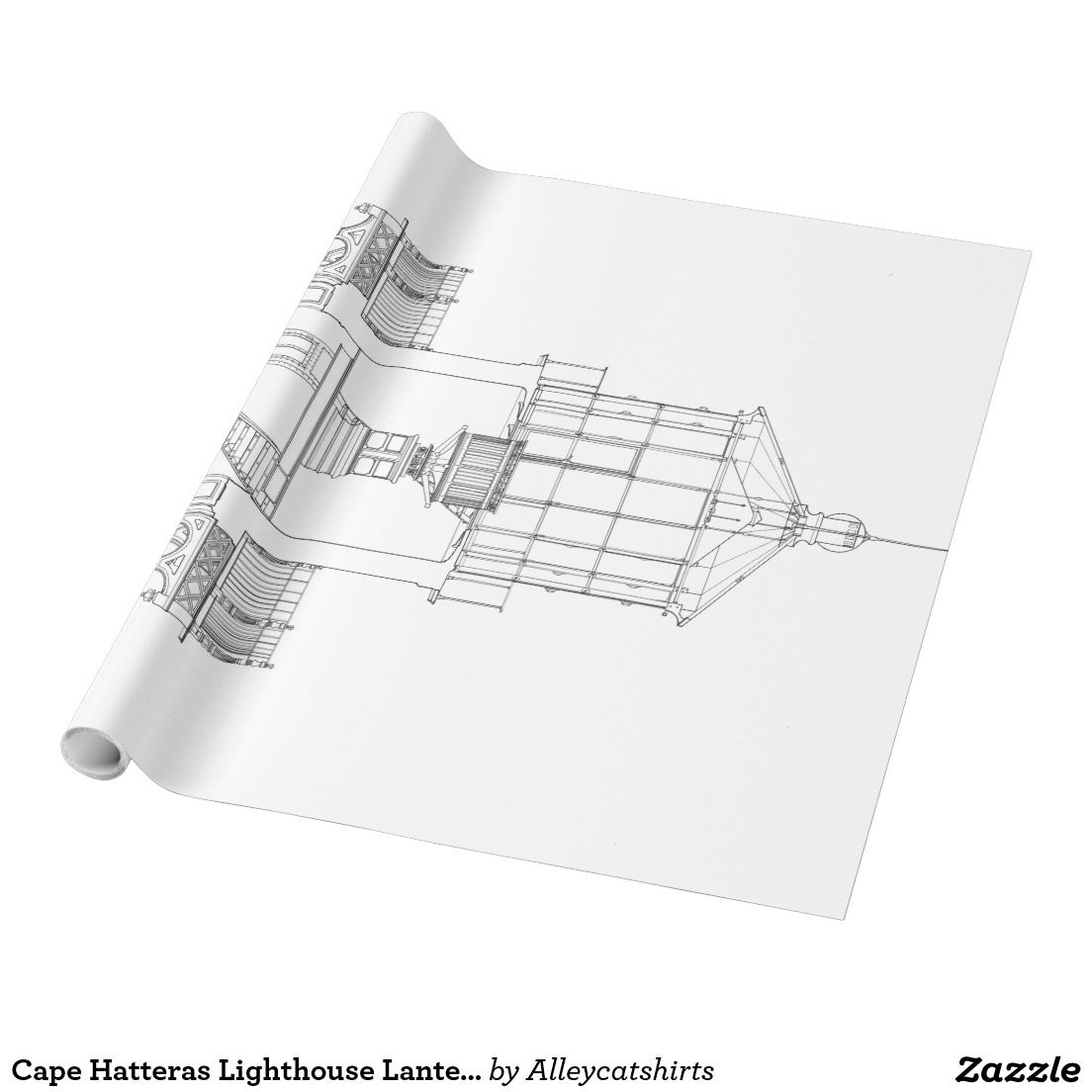 Cape hatteras lighthouse lantern room blueprint wrapping paper cape hatteras lighthouse lantern room blueprint wrapping paper malvernweather Image collections