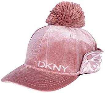 235122afa DKNY Girl's Velvet Bomber Hat With Satin Ear Flap and Pom Pom ...