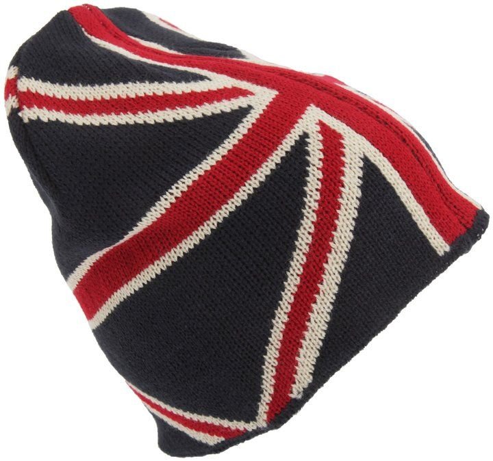 ea856a84d8b Universal Textiles Adults Unisex Union Jack Knitted Winter Beanie Hat (One  Size) (Red