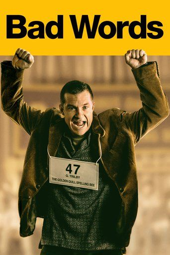 Bad Words (2013) | http://www.getgrandmovies.top/movies/19870-bad-words | A misanthropic man sets out to exact revenge on his estranged father, by finding a loophole and attempting to win the National Spelling Bee as an adult. Figuring it would destroy his father, and everything he's worked so hard for as head of the Spelling Bee Championship Organization, Guy Trilby (Jason Bateman) eventually discovers winning isn't necessary for revenge, and that friendship is a blessing not a curse.