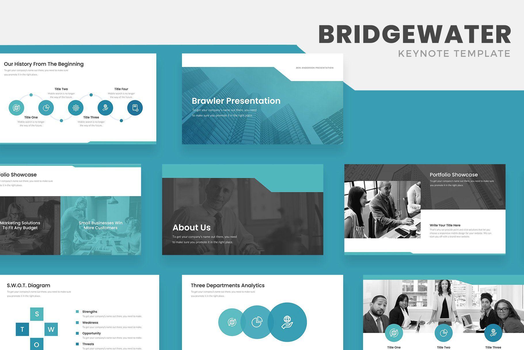 Bridgewater Business Keynote Business Powerpoint Templates Presentation Template Free Presentation