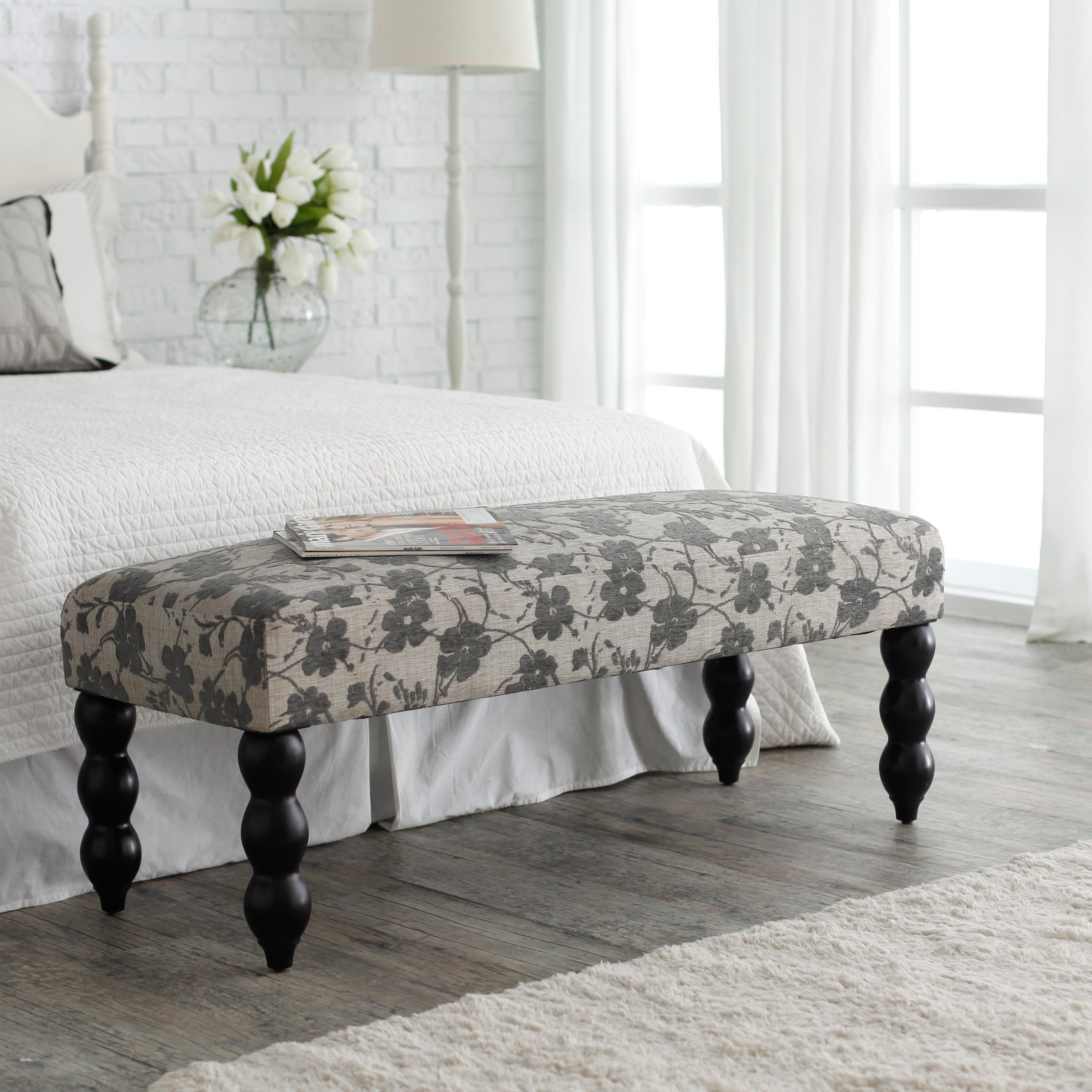 Best Have To Have It Altea Upholstered Bedroom Bench Gray 400 x 300