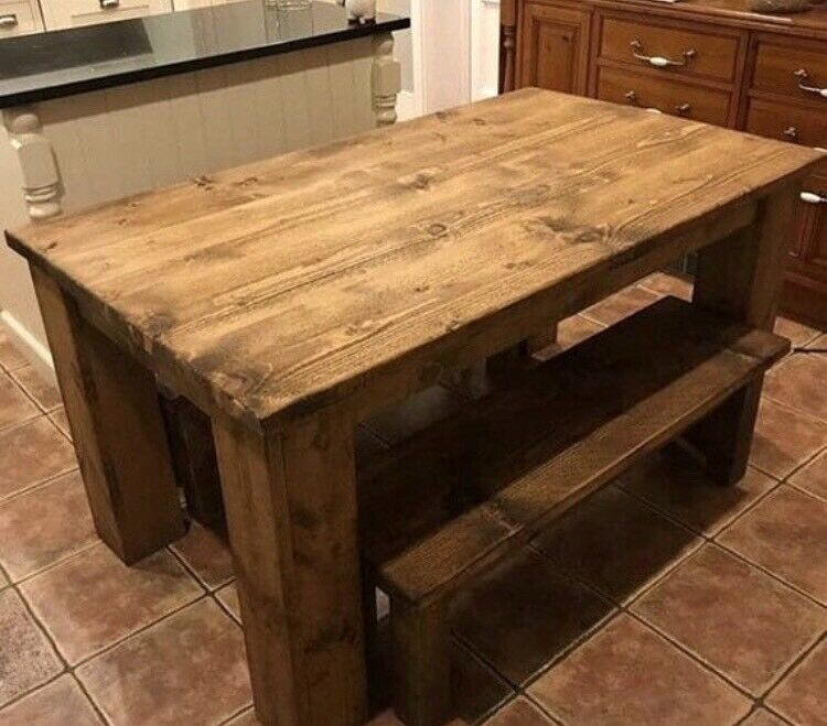 Living Room Table Gumtree Beautiful Rustic Chunky Table Sets In Grimsby Lincolnshire Living Room Table Dining Room Table Set Living Room Design Orange Rustic living room table sets