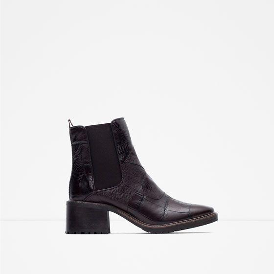 Booties Print Croc Mock In Zara Pinterest Leather Wishlist New YBFqqxz