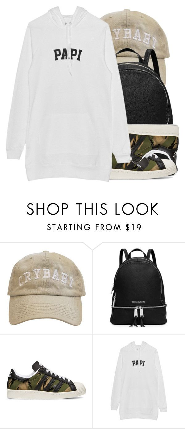"""""""~CRYBABY~"""" by champangemamii ❤ liked on Polyvore featuring MICHAEL Michael Kors and adidas Originals"""