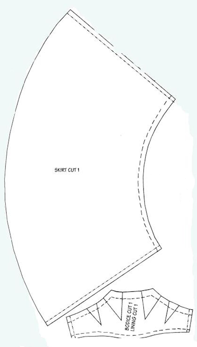Ballgown skirt pattern | Doll Clothes & Patterns | Pinterest ...