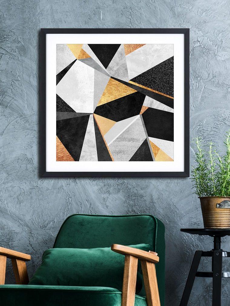 Stili Di Case Moderne.Stili Di Arredamento Soggiorno Arredato Con Una Poltrona Di Colore
