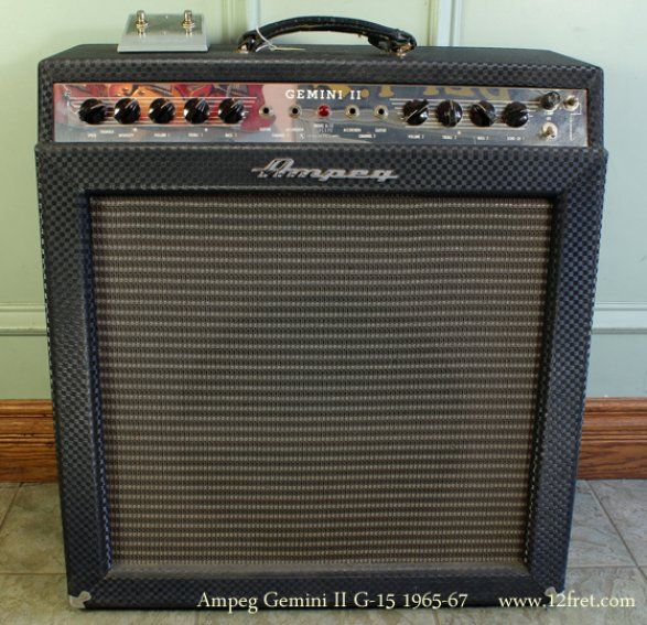 the replacement for the usually disappointing blues deluxe a smashing 1965 ampeg gemini ii g15. Black Bedroom Furniture Sets. Home Design Ideas