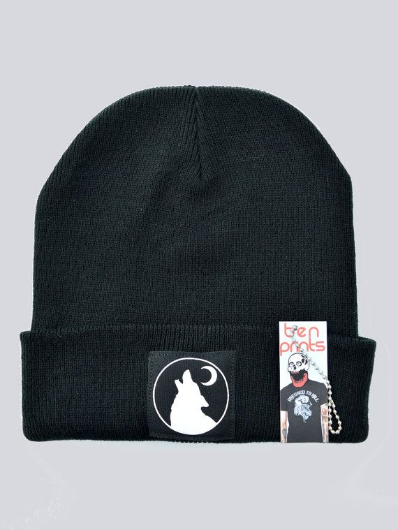 53962cd84fa Wolf Moon Beanie By Ben Prints On Etsy