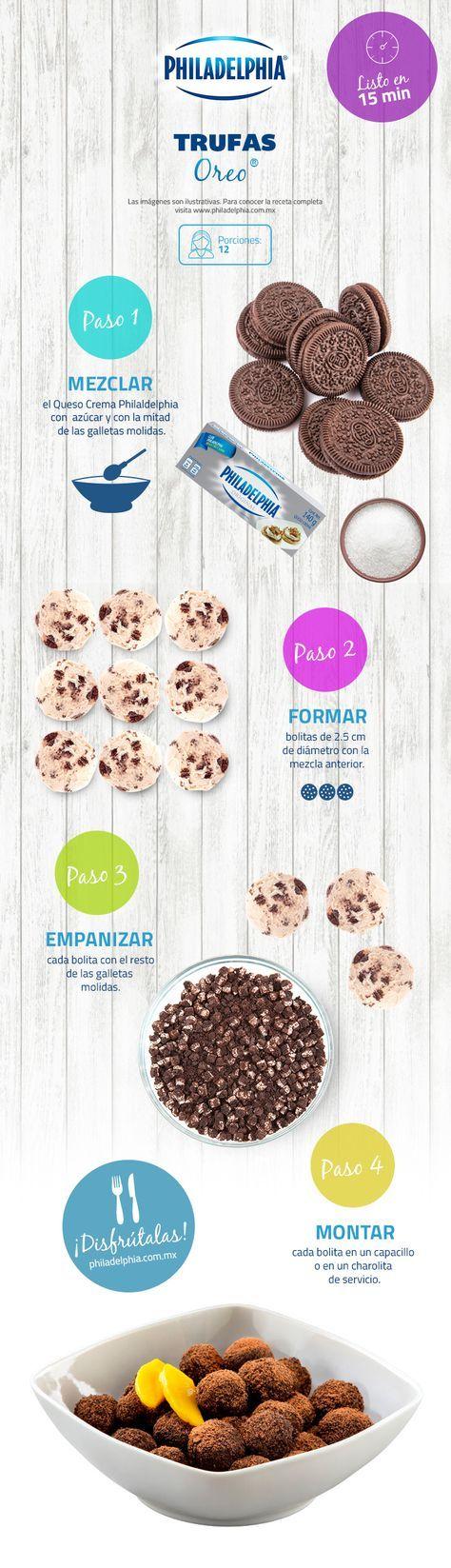 Trufas Oreo Receta Recetas De Comida Recetas Deliciosas Recetas De Comida Fáciles