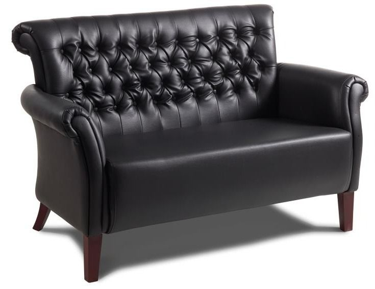 Marina Black Leather Sofa And Armchair The Coach House Sofa