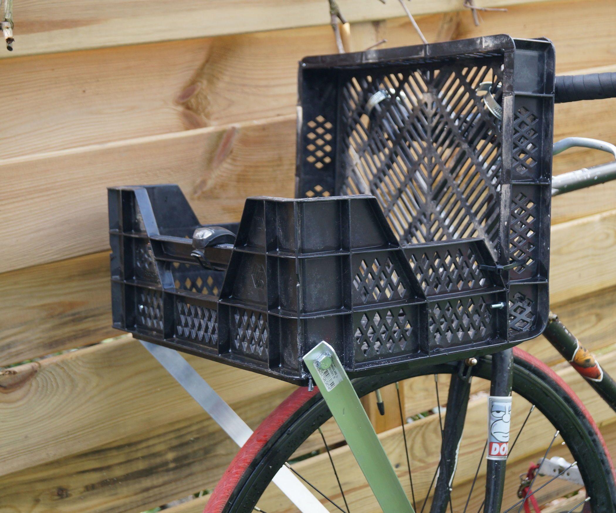 diy cargo bike front rack bike