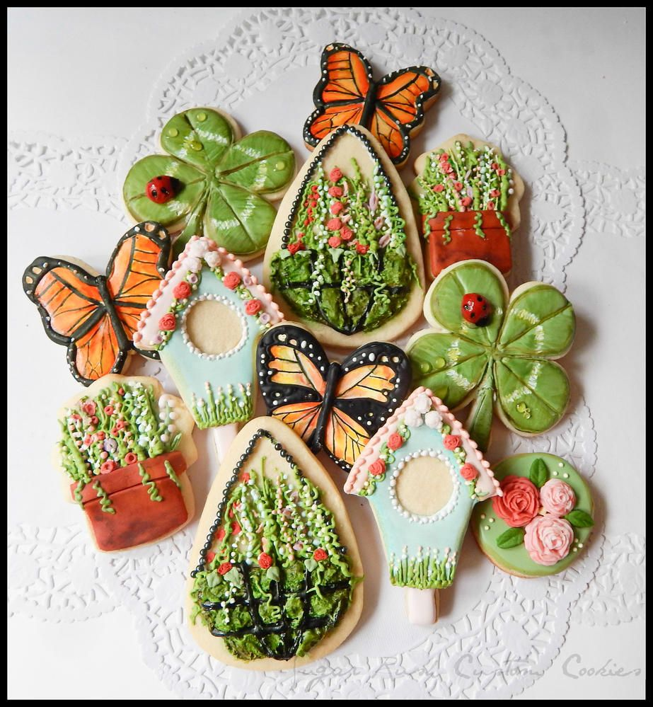 Gardening Themed Cookies   By Kim-Sugar Rush Custom Cookies  http://www.facebook.com/Sugarrushcustomcookies