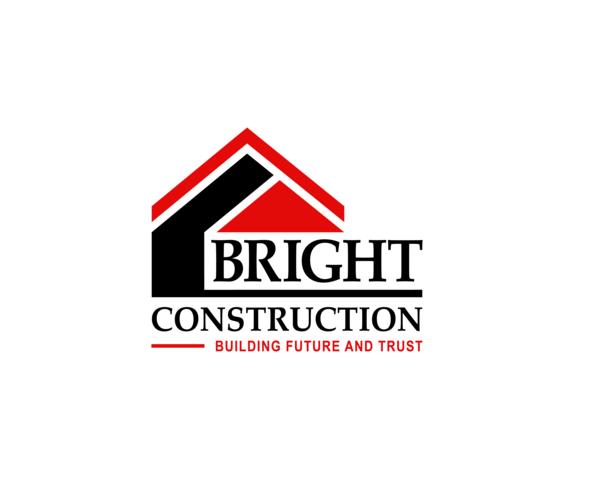 Bright Construction Logo Roofing Company Logos Construction Logo Construction Company Logo