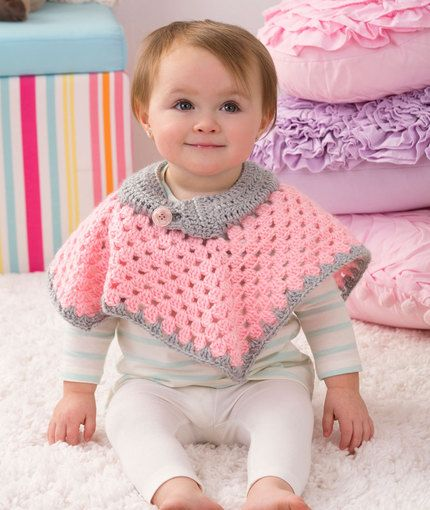 10 Free Crochet Poncho Patterns For Babies Crafts Pinterest