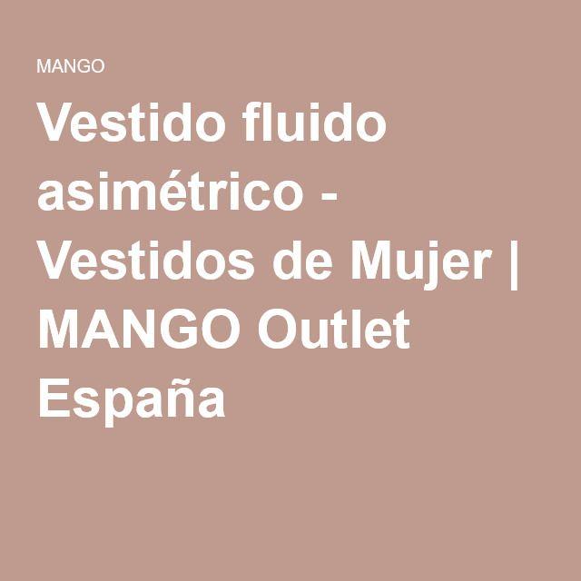 Vestido fluido asimétrico - Vestidos de Mujer | MANGO Outlet España