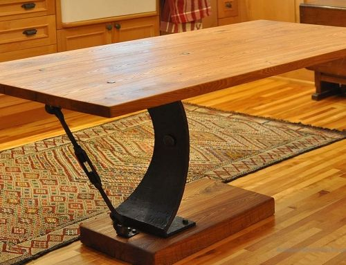 Neat Old Farm Table Metal Table Legs Industrial Livingroom