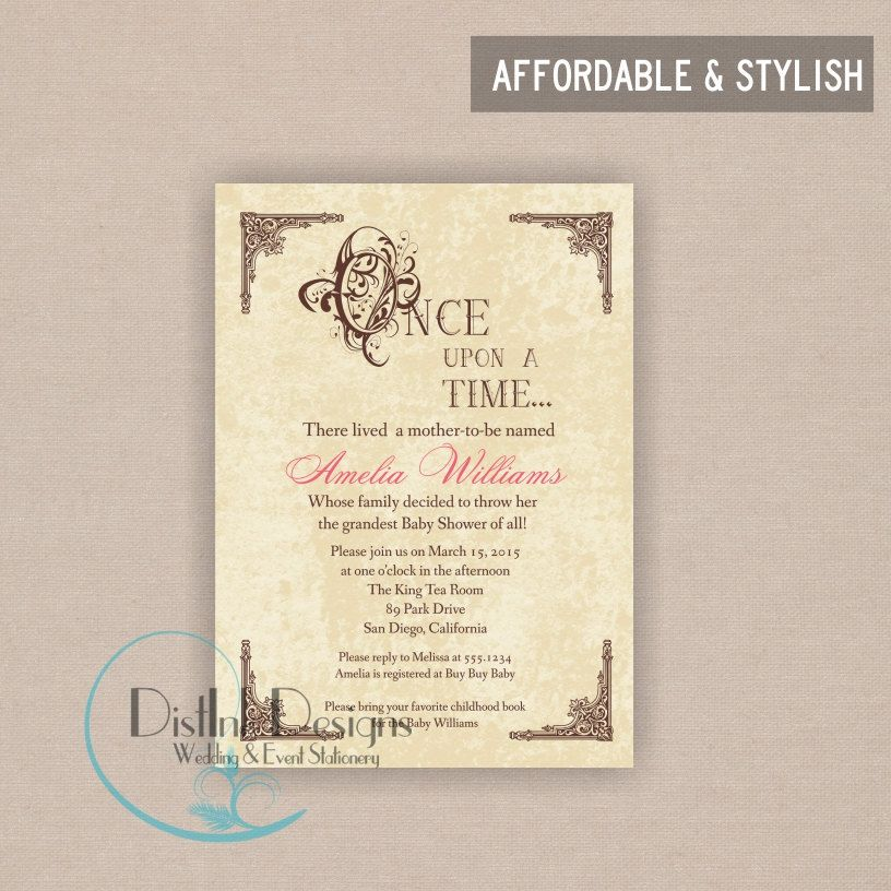 Fairy tale Once Upon a time inspired Baby Shower or Bridal Shower ...
