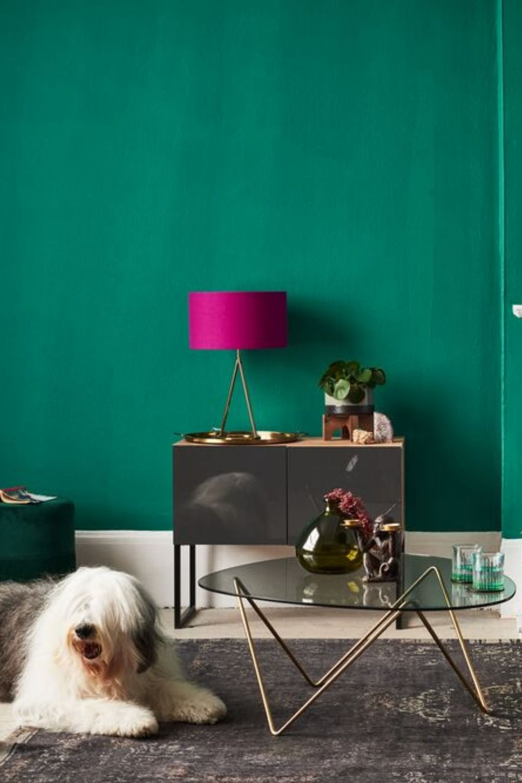 #greenwall #salon #livingroomidea #duluxvalentine #decorationinterieur #design