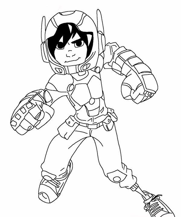 Desenhos para pintar Big Hero 6 13