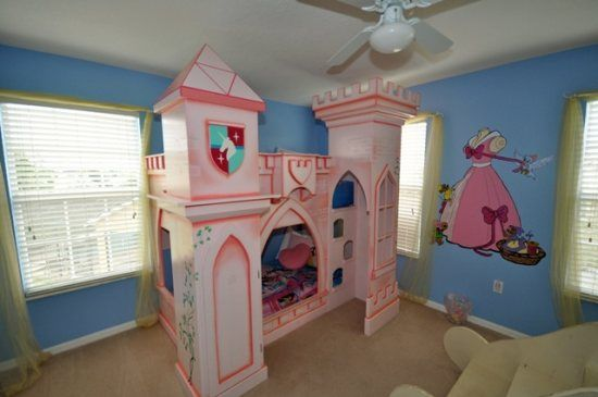Cinderella Themed Bedroom From Homes4uu Vacation Homes In Orlando