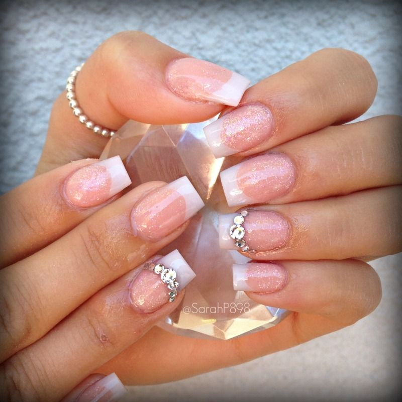 pink and white nails | Nail Obsession | Pinterest | Diseños de uñas ...