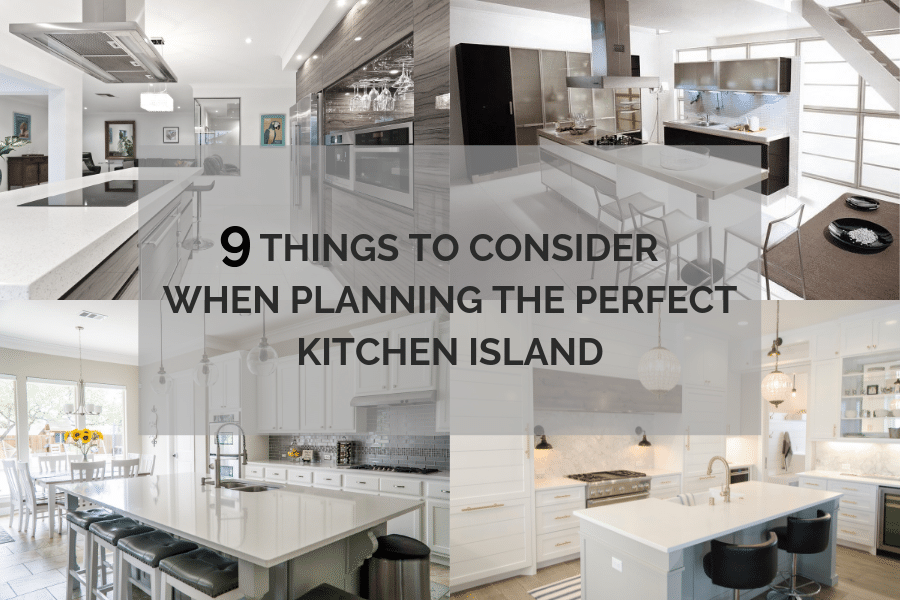 Planning The Perfect Kitchen Island 9 Questions To Consider When Designing The Best Kitch Kitchen Island Kitchen Island Placement Types Of Kitchen Countertops