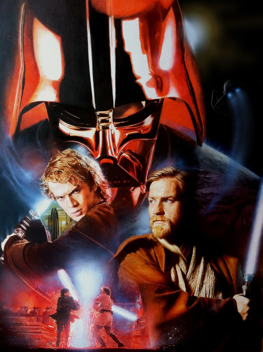 Revenge Of The Sith Oil Painting By Ciaramcavoy On Deviantart Star Wars Movies Posters Star Wars Poster Star Wars Poster Art