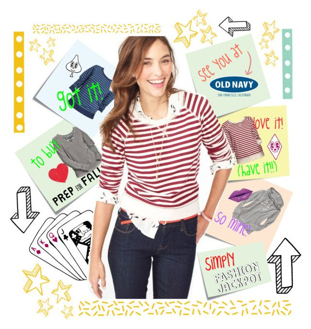 """See You at Old Navy!"" by capricat ❤ liked on Polyvore featuring Post-It, Old Navy and Love Boo"