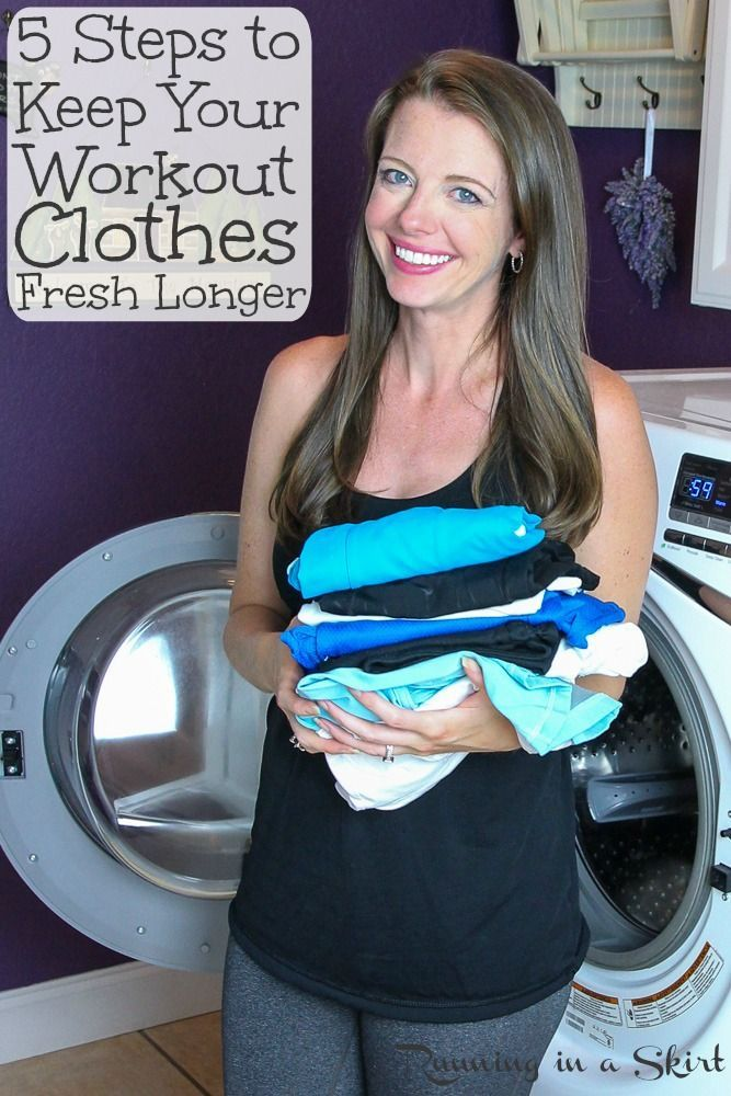 How to Wash Workout Clothes and 5 Life Hacks to Keep Workout Clothes Fresh Longer.  Includes simple...