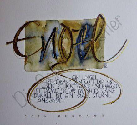 ber ideen zu engel zeichnen kalligraphie. Black Bedroom Furniture Sets. Home Design Ideas