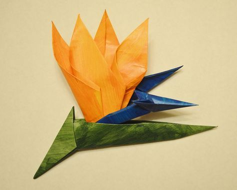 42 beautiful origami flowers that look almost like the real thing origami bird of paradise flower httpsorigamiusacatalogproductsbird paradise flower strelitzia reginae pdf available mightylinksfo