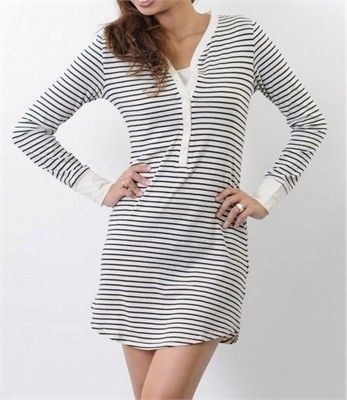 NEW! Stylish & Comfy #Nursing/ #Maternity Striped #Nightdress $69.00