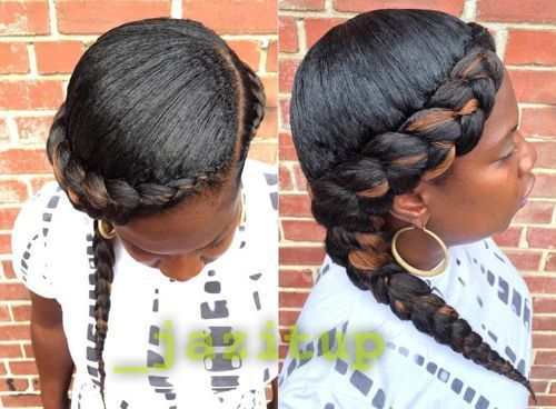 Black Hairstyles With Side Braids: 60 Inspiring Examples Of Goddess Braids