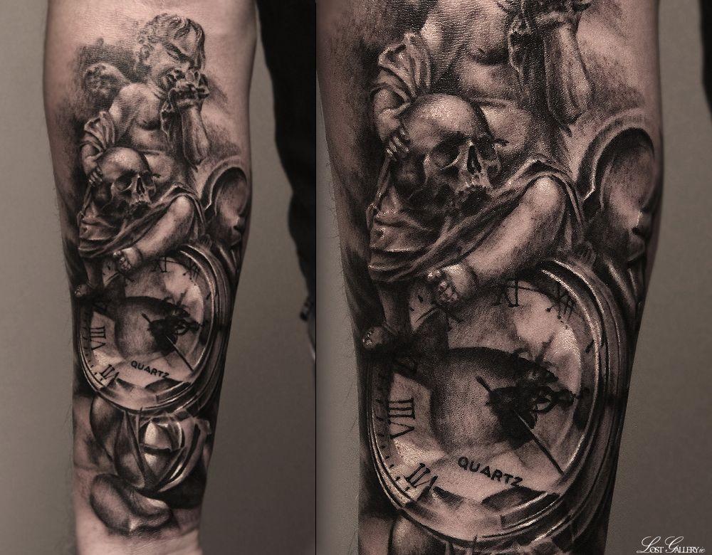 Cherubs Watch Tattoos Tattoos Pocket Watch Tattoo
