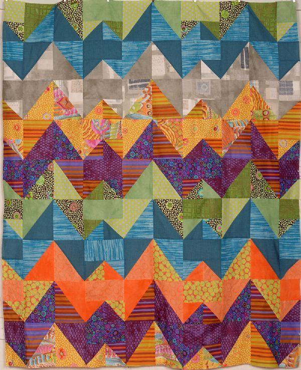 ziggurat quilt kit heartsong