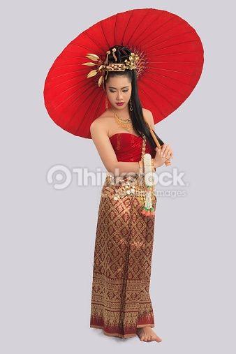 Thai Woman In Traditional Costume Thailandische Frauen Kleidung Traditionelle Kleidung