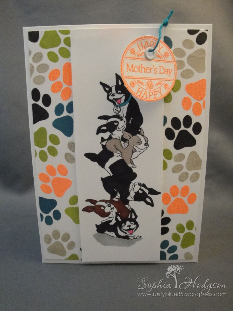Card made with Simon Says Stamp STAMPtember Art Impressions exclusive stamp