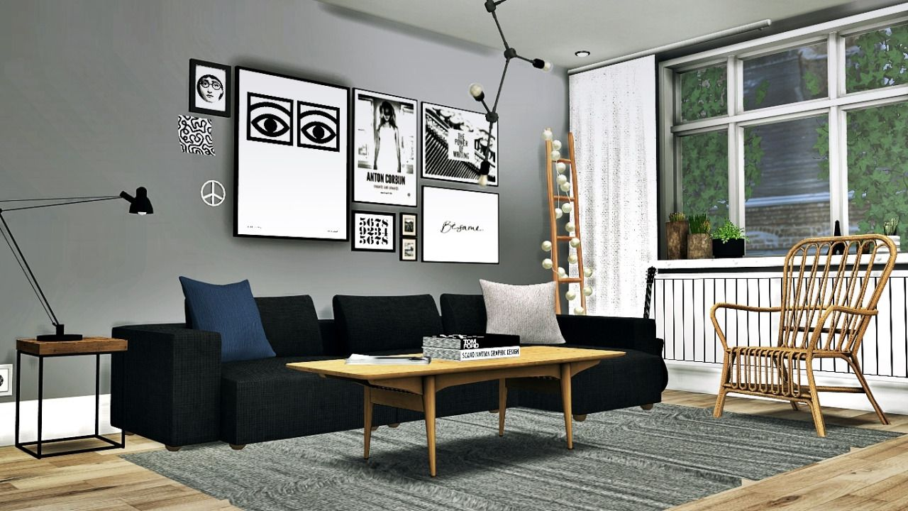 Madrid Taupe Beige Ultra Modern Living Room Furniture 3: Scandinavian Living #4 • Simple Rustic End Table ( 4