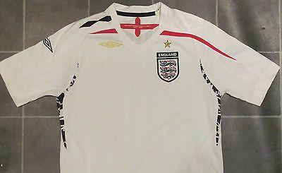 57db60936e Umbro boys mb 9-10 years -  white england  football  t-shirt top ...