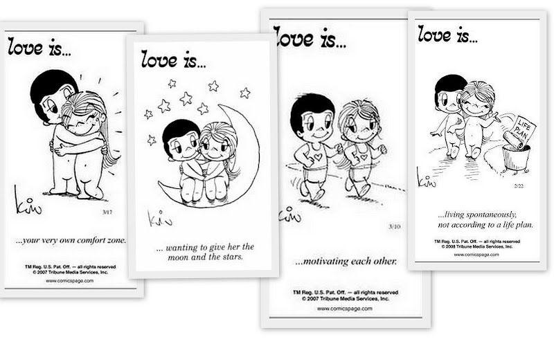 Love is...cartoons were sweet.