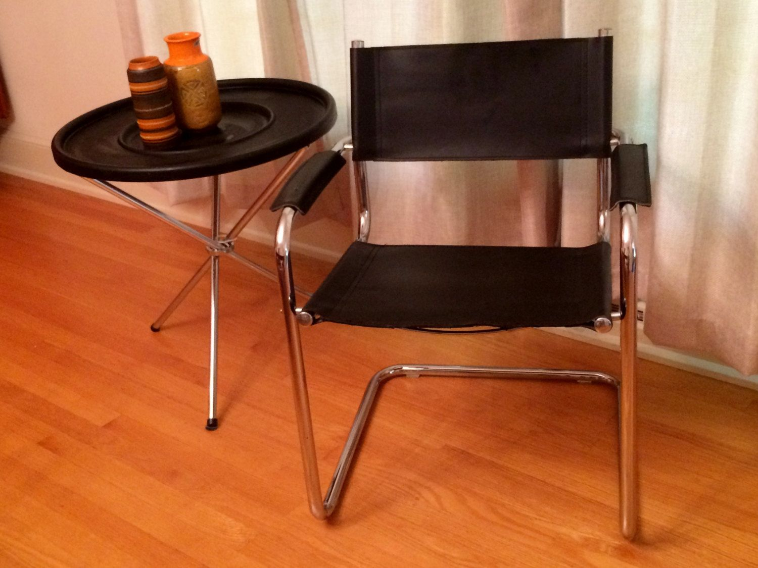 Matteo Grassi Chair / Chrome U0026 Leather / Great Price! By  ModernaireMCMStudios On Etsy