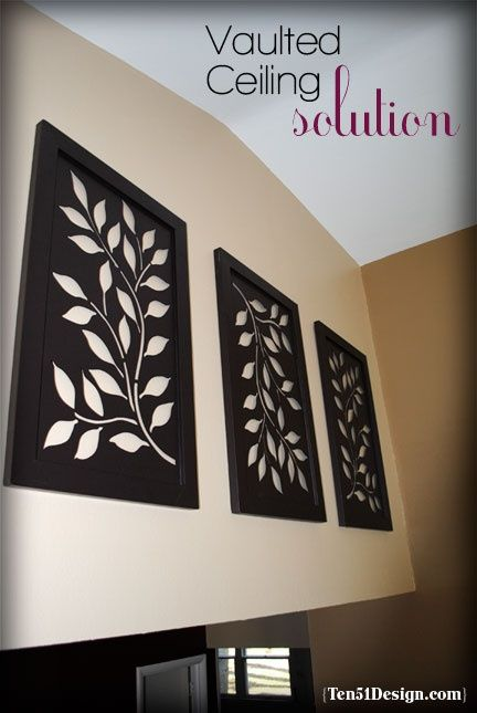 Diy Wall Art Big : Decor idea for large wall w vaulted ceiling easy diy